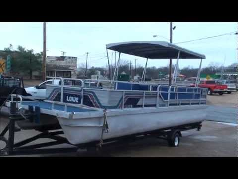 1986 LOWES 24FT PONTOON BOAT FOR SALE SEE WWW SUNSETMILAN COM - YouTube