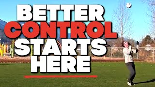 How to control a soccer ball in the air - how to improve soccer skills