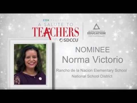 2020-21 County Teacher of the Year Nominee: Norma Victorio - Rancho de la Nacion Elementary