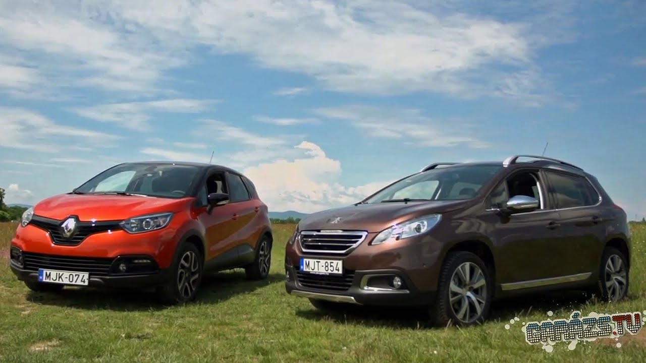peugeot 2008 vs renault captur youtube. Black Bedroom Furniture Sets. Home Design Ideas