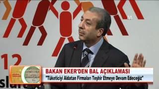 BAKAN EKER'DEN BAL AÇIKLAMASI 29.03.2012