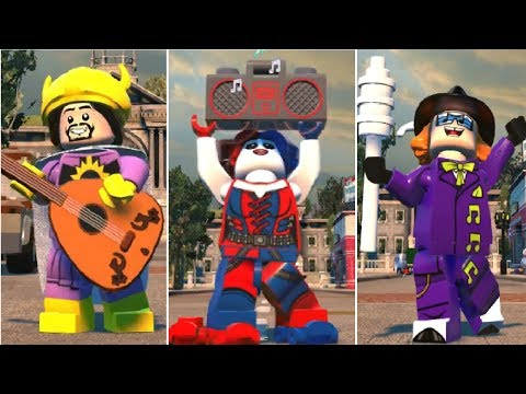LEGO DC Super-Villains - All Characters With Musical Abilities
