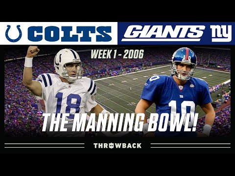 """The Manning Bowl"" (Colts vs. Giants, 2006) | NFL Vault Highlights"