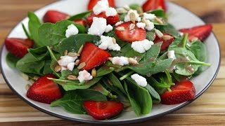 Spinach Salad With Strawberries - Love At First Bite Episode 44