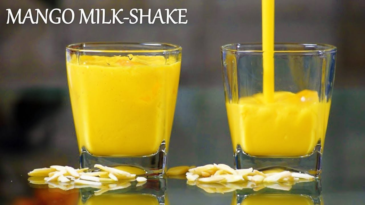 Mango Milkshake Recipe in Hindi | मेंगो मिल्कशेक​ | Creamy Mango Shake