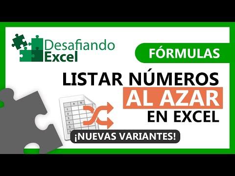 Listar NÚMEROS AL AZAR en Excel | Fórmulas de Excel #63