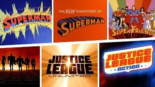 (Almost) Every Animated Superman Opening Title! | 80 Years Of Superman | DC Kids
