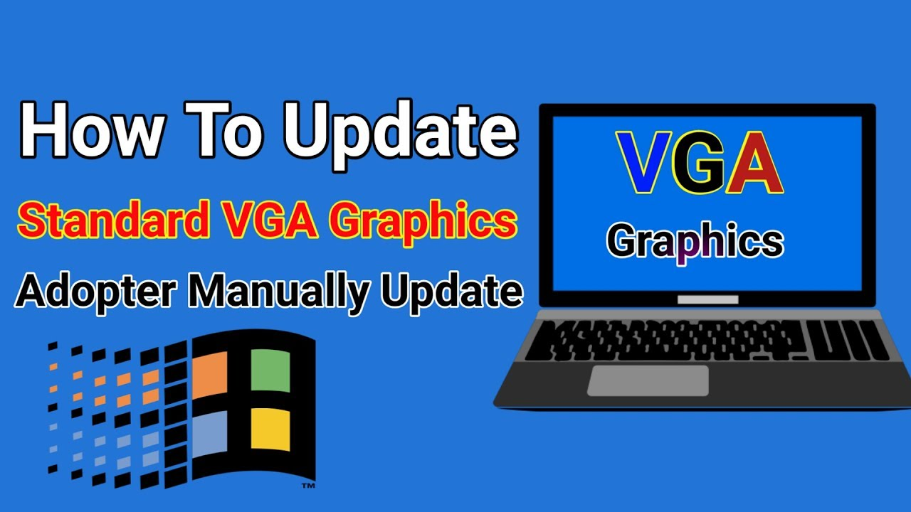 Fix standard vga graphics adapter driver issue. Easily! Driver easy.