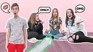 Spin The Bottle Of Dares CHALLENGE With My CRUSH **THEY KISS** (PART 2)🍾| Sawyer Sharbino