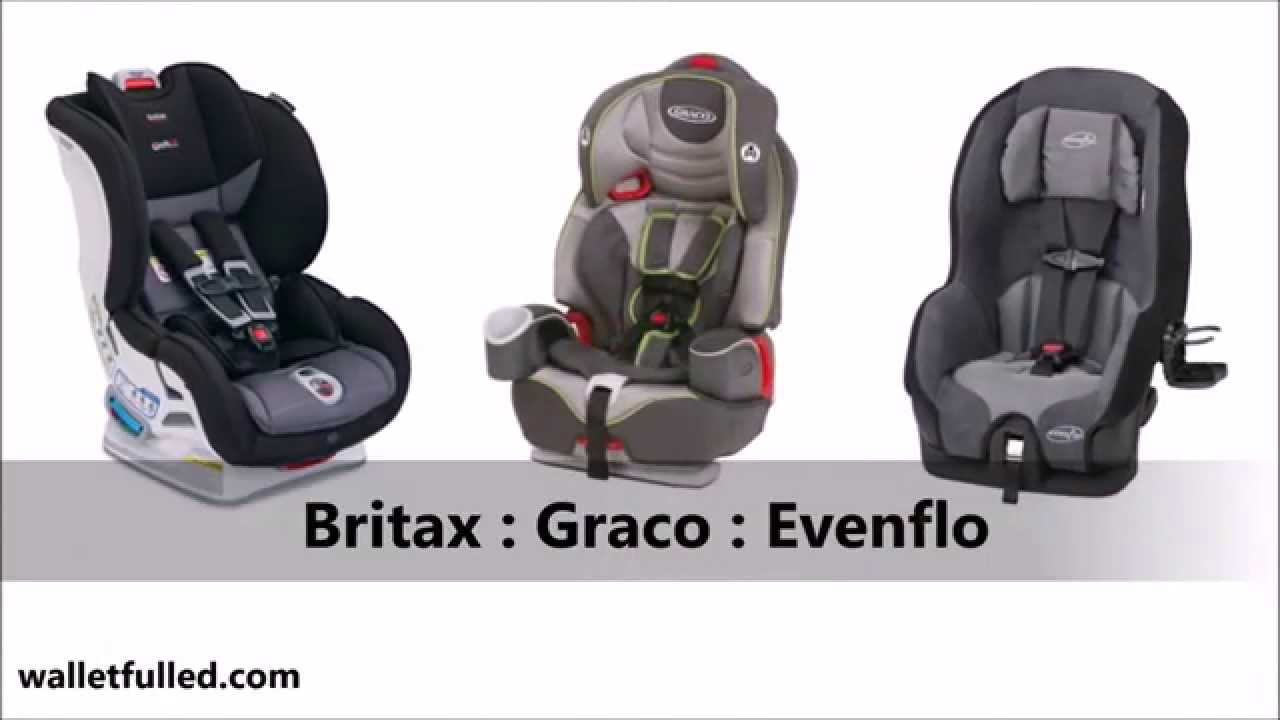 britax graco evenflo car seat comparison top car seat comparison youtube. Black Bedroom Furniture Sets. Home Design Ideas