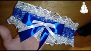 Мастер-класс, Подвязка невесты из лент и кружева