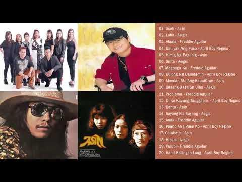 Aegis, Asin, Freddie Aguilar, April Boy Regino Greatest Hits || Best of Aegis, Asin, Freddie, April1
