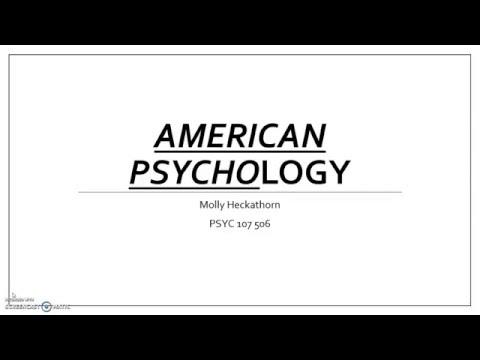 American Psychology