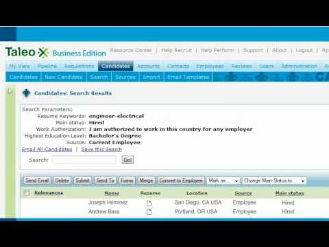 Keyword Taleo Recruit Recruiting And Hiring On Demand Software