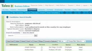 Recruit and hire the best candidates in an on-demand environment with taleo from business edition. parse resumes import candidate data into...