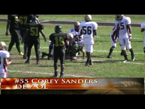 #55 Corey Sanders 2008 Varsity Football Senior Highlights. Frederick Douglass High School
