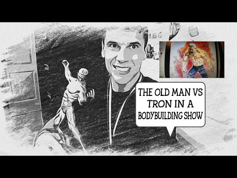BODYBUILDING SHOW THE OLD MAN VS TRON