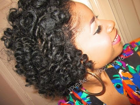 Bantu Knot Out On Very Short Natural Hair