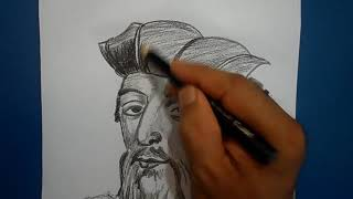 Vasco da gama draw step by step