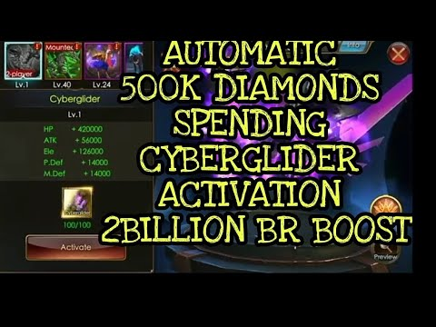 500k DIAMONDS SPEND CYBERGLIDER ACTIVATION - Legacy Of Discord