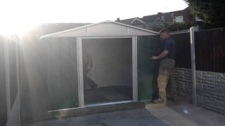 Yardmaster 10 X 8ft (putting On The Roof)