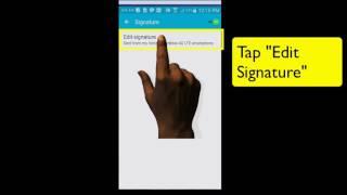 كيفية إنشاء أو تعديل توقيع البريد الإلكتروني (Android-Samsung Galaxy) - تيرنر إدارة الوقت