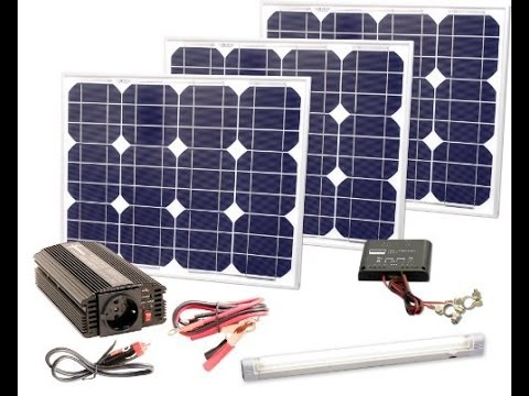 Heimwerker Komplette Solaranlage 230v TÜv 100w Solarmodul Spannungswandler Gartenhaus Watt Solartechnik