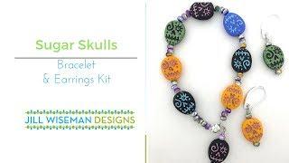 Easy Halloween Bracelet Kit - Sugar Skulls!