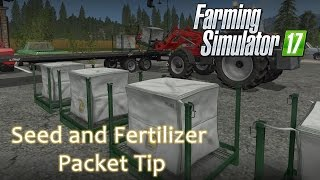 Farming Sim 17 - Fetilizer and Seed Package Handling Tip - Trick