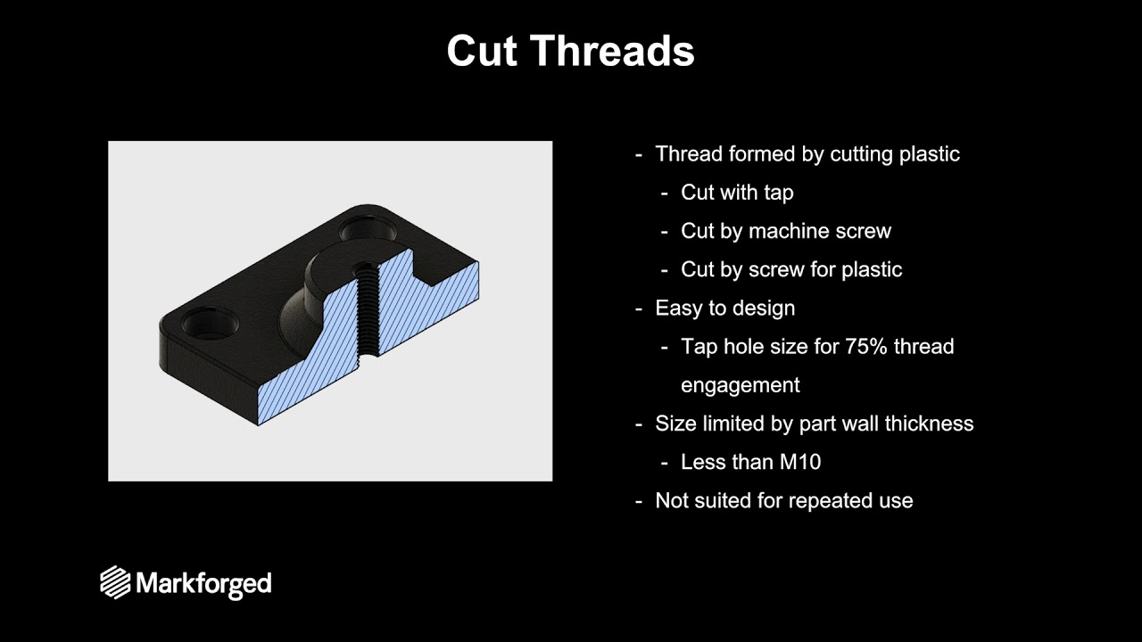 How to Join 3D Printed Parts with Threaded Fasteners