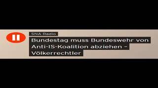Völkerrechtler Paech: Bundestag muss Bundeswehr von Anti-IS-Koalition abziehen (Sputniknews)