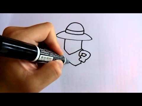 สอนวาดรูปการ์ตูนมินเนี่ยน Minions ลูฟี่ by วาดการ์ตูนกันเถอะ