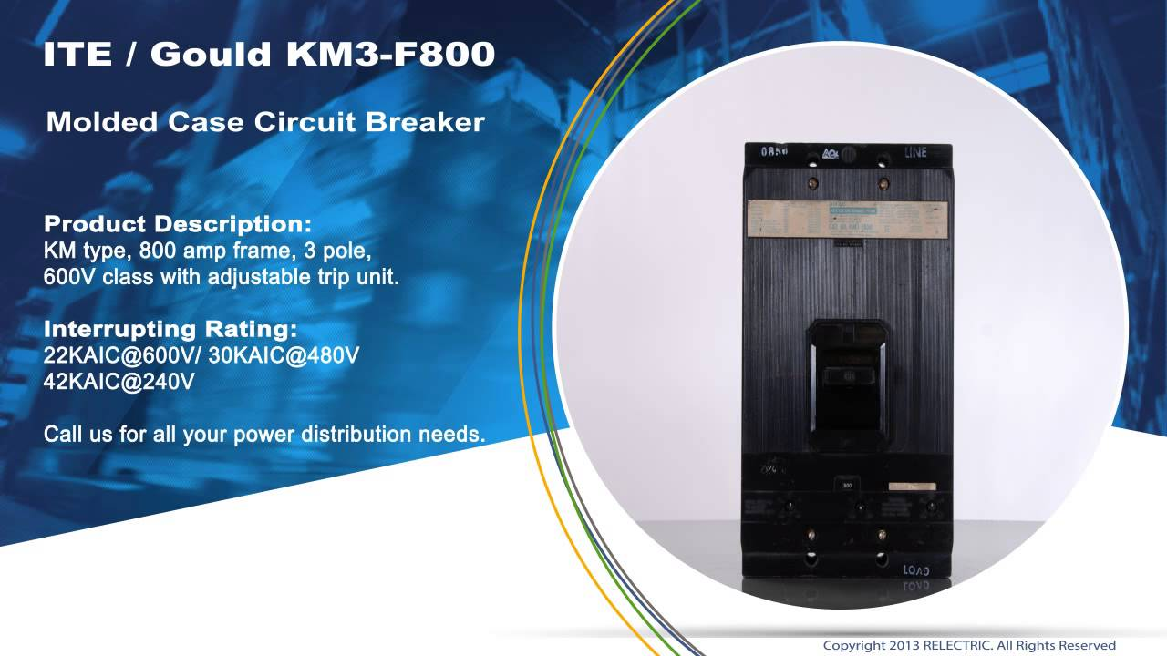 Ite Molded Case Circuit Breaker Block And Schematic Diagrams Abb Earthleakage F364 Nib Gould Km3 F800 Youtube Ratings
