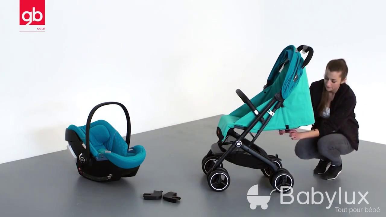 poussette qbit qbit de gb utilisation youtube. Black Bedroom Furniture Sets. Home Design Ideas