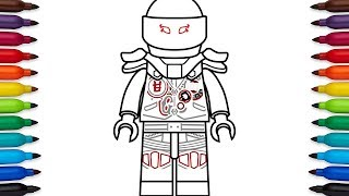 How to draw Lego Mr E from Lego Ninjago: Masters of Spinjitzu