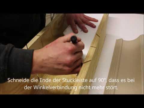 Stuckleisten Aus Styropor Selber Auf 45 Grad Schneiden Verkleidung Der Vorhangschiene Youtube