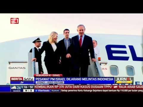 Pesawat PM Israel Dilarang Masuk Wilayah Indonesia