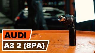 Kā nomainīt Stūres šķērsstiepņa uzgalis AUDI A3 Sportback (8PA) - video ceļvedis