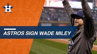 Wade Miley agrees to one-year deal with the Astros