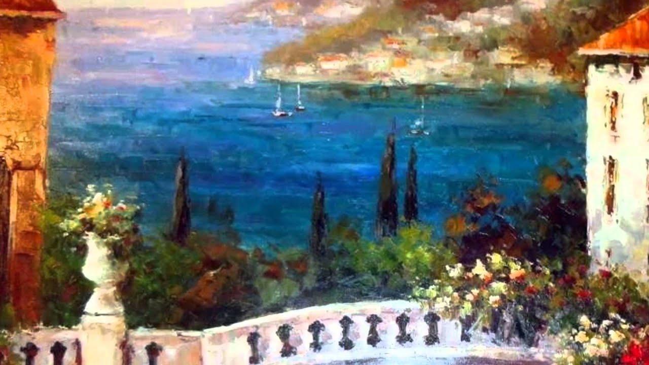 Original Art Mediterranean Landscape Art For Sale Vibrant