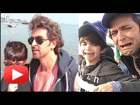 (VIDEOS) Hrithik Roshan's sons DARING Africa Vacation