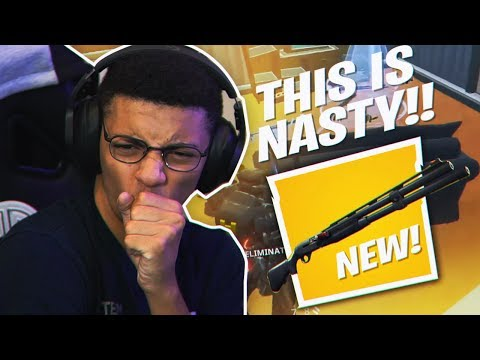POPPING OFF WITH THE *NEW* COMBAT SHOTGUN! (Fortnite Battle Royale Season 9)