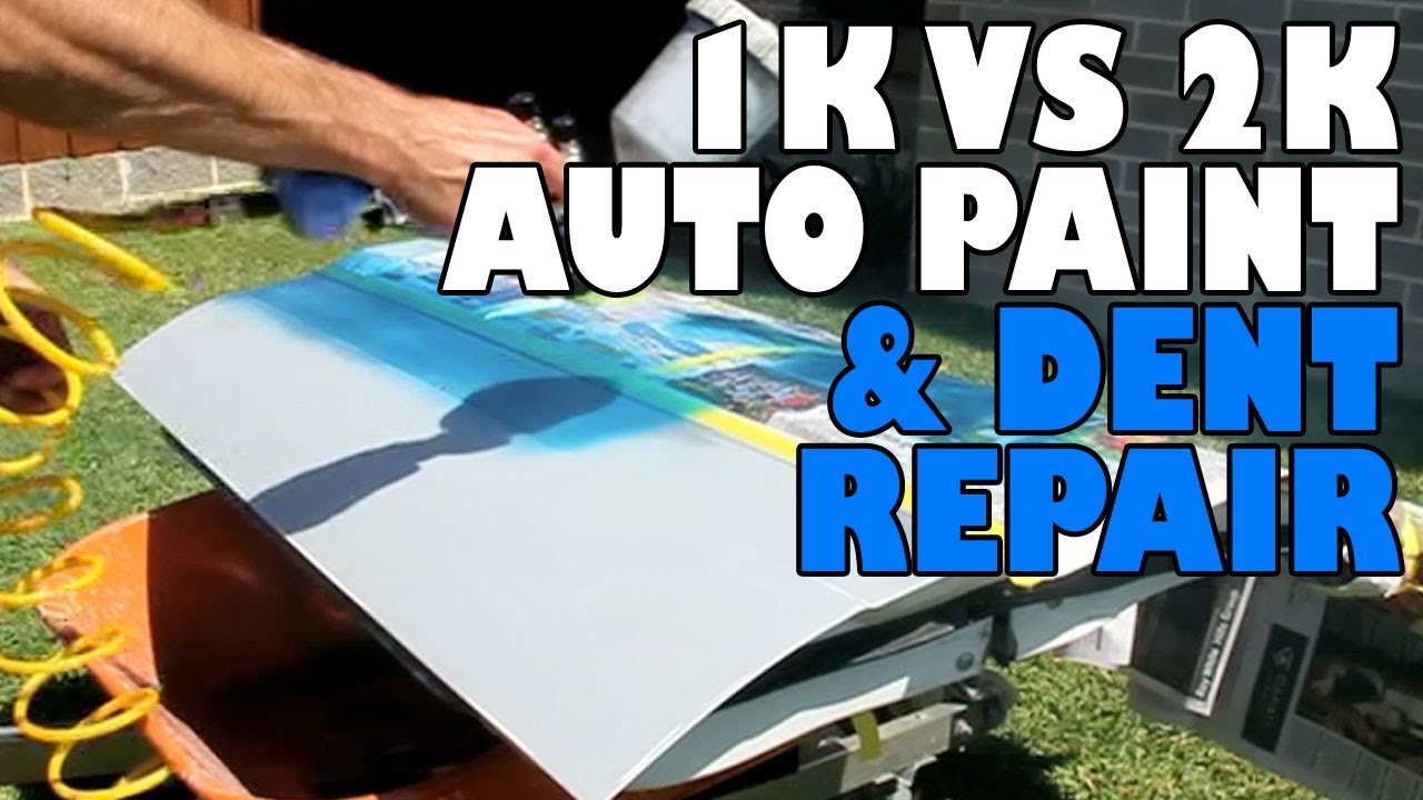 Remove Spray Paint From Car >> 1K Acrylic VS 2 Pack Auto Paint + Dent Repair - YouTube