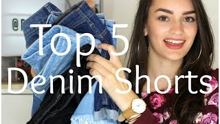Top 5 Denim Shorts for Tall Girls (Try-On) | Peexo