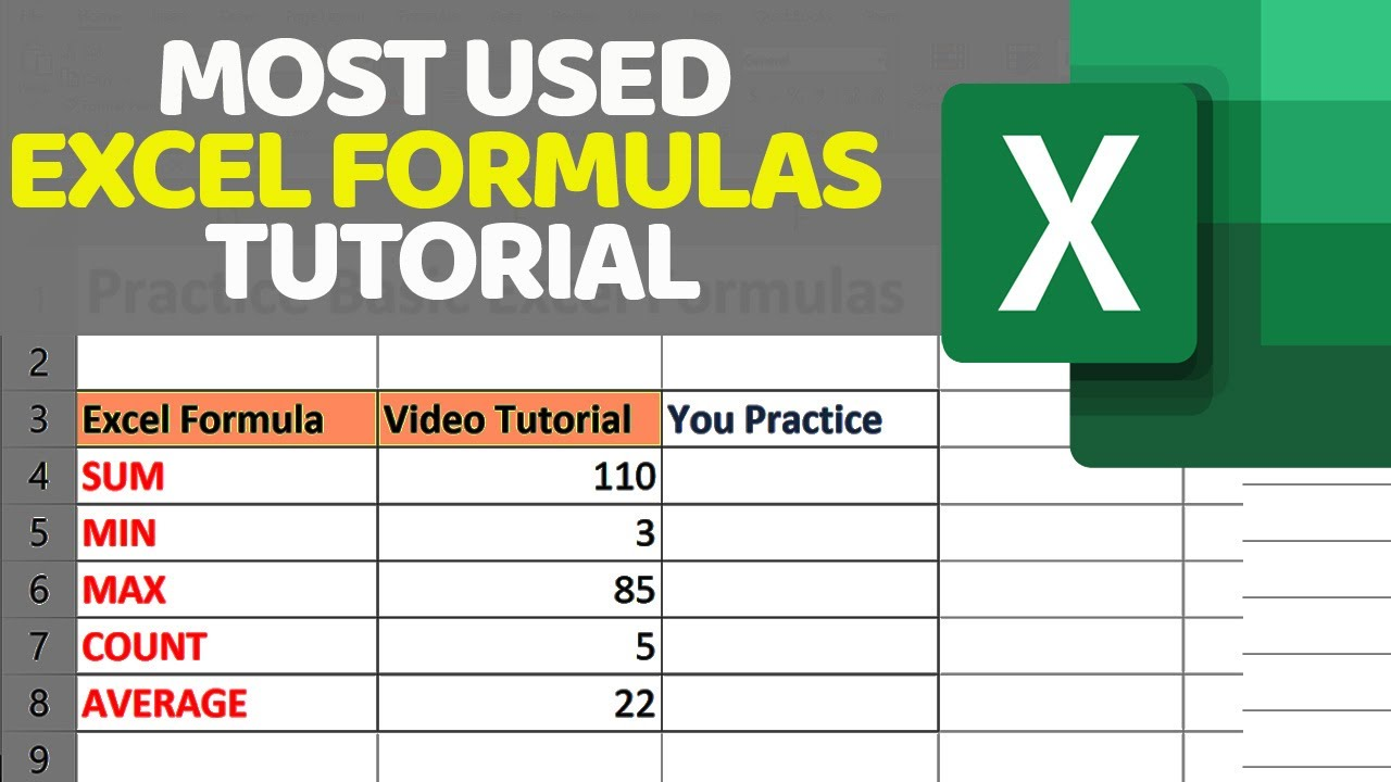 How To Master Excel Formulas and Functions Tutorial for Beginners