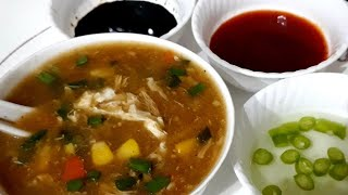 Chicken hot and sour corn soup very delicious recipe