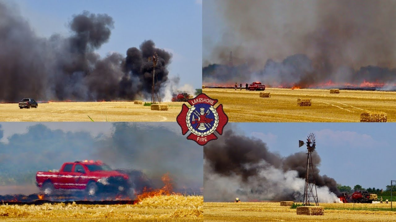 2nd Alarm Field Fire On County Rd 42 - Lakeshore Fire On Scene