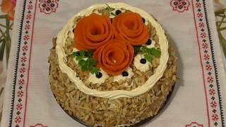 Печёночный торт / Холодная закуска  /  Торт з печінки / Праздничные блюда /Закусочный торт .