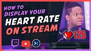 How to SHOW HEART RATE monitor ON STREAM  (OBS SLOBS) 2019 screenshot 5