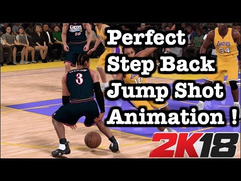 NBA 2K18 How To Do Step Back Jump Shot Dribble Moves. 2K18 Tips Best Jump Shot Animation #54